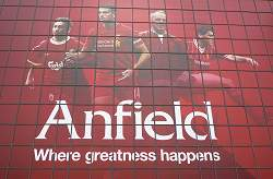 Anfield Where Greatness Happens Sign