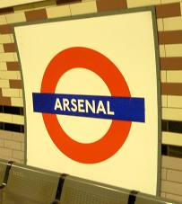 Arsenal Tube Station Sign