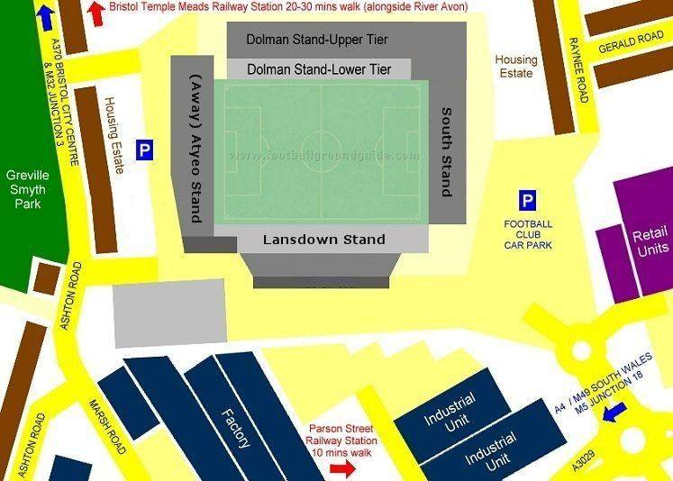 Ground Layout of Bristol City
