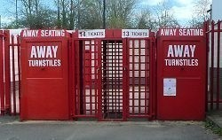 Away Seating Entrance Turnstiles