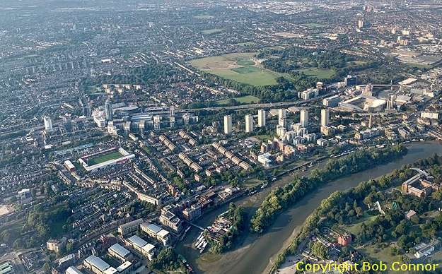 Griffin Park and New Stadium From the Air