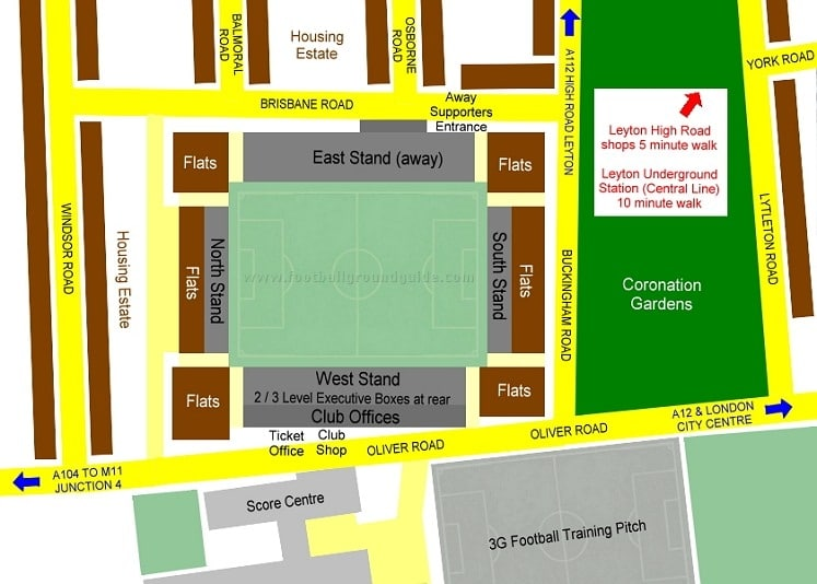 Ground Layout of Leyton Orient