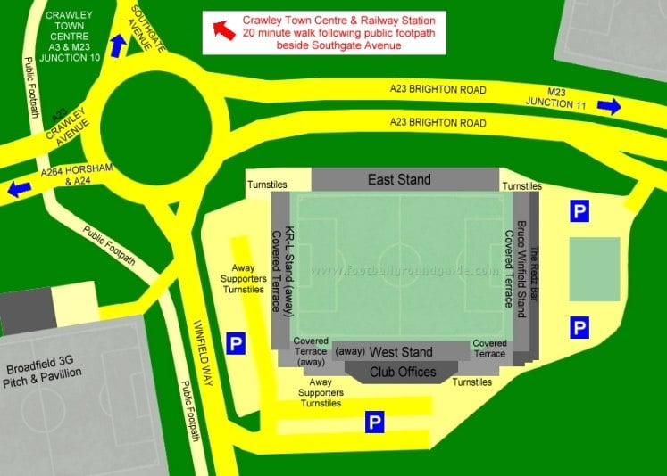Ground Layout of Crawley Town