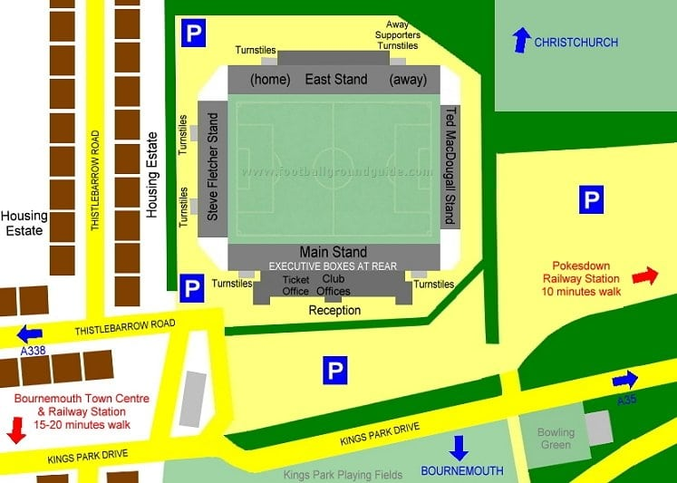 Ground Layout of Bournemouth