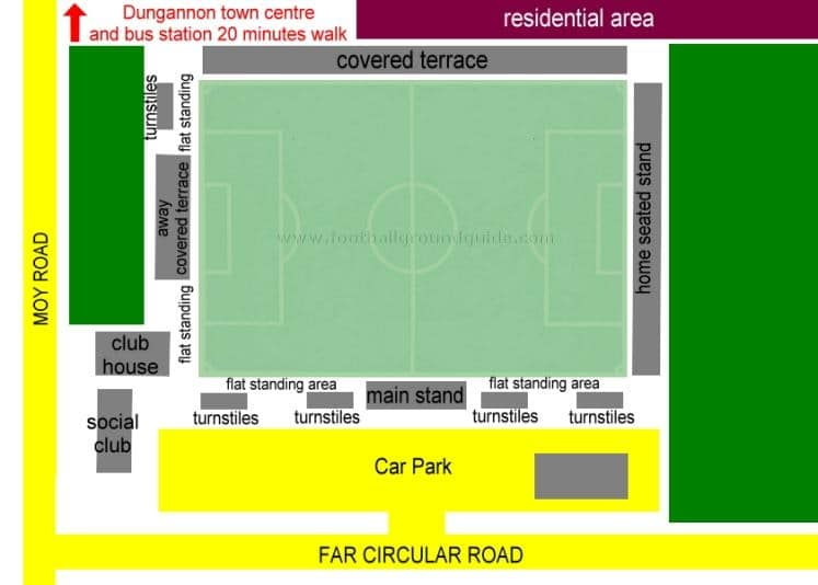 Ground Layout of Dungannon Swifts