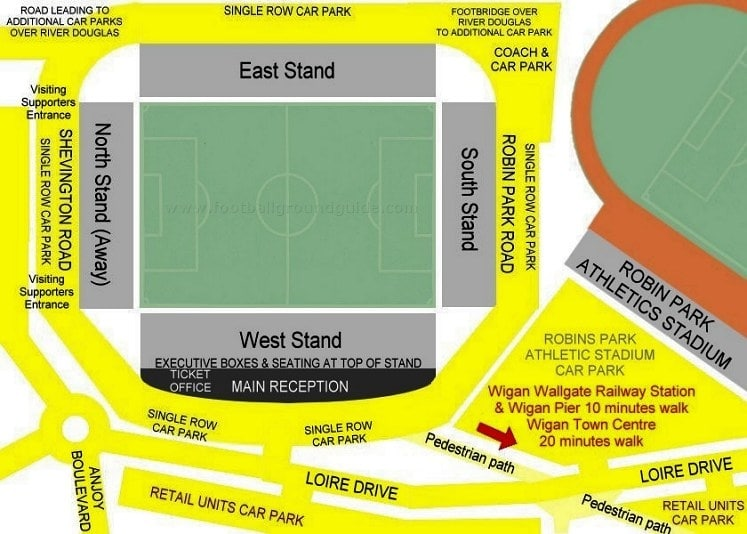 Ground Layout of Wigan Athletic