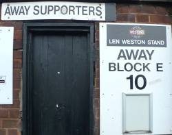 Away Supporters Entrance At Edgar Street Hereford