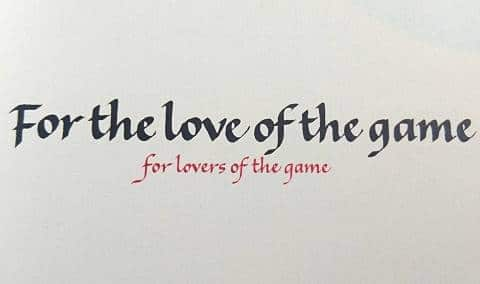 For The Love Of The Game Book