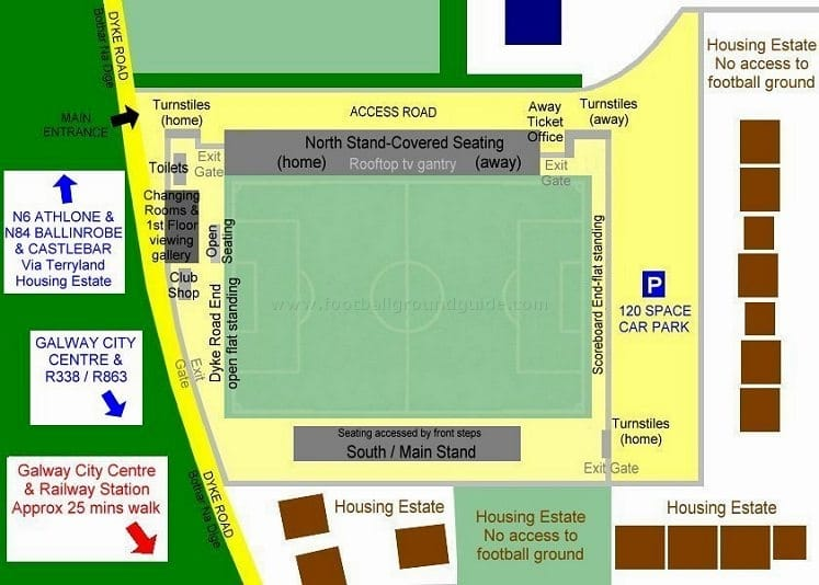 Ground Layout of Galway United