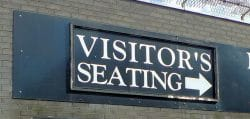 Visitors Seating Sign