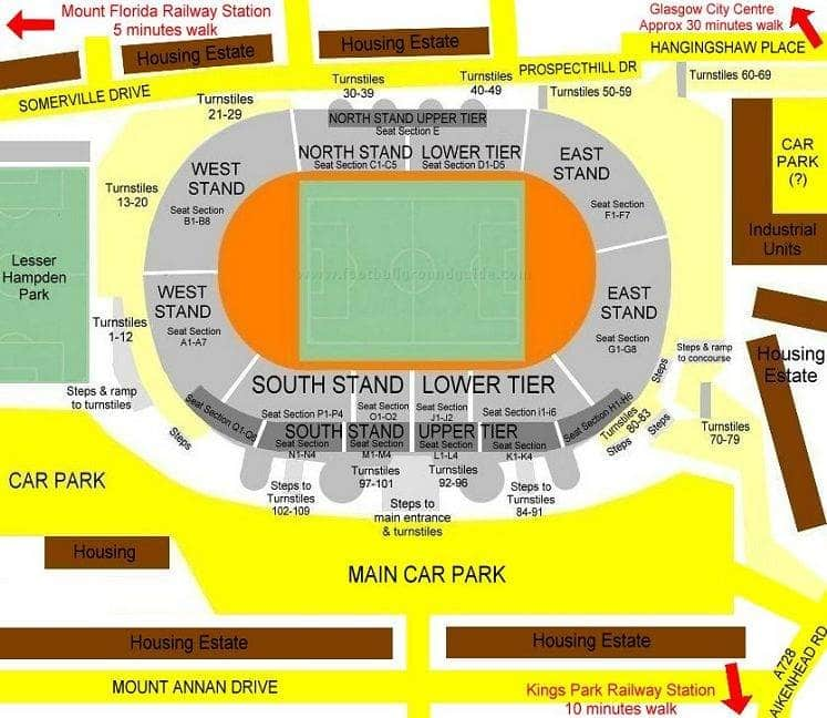 Ground Layout of Hampden Park