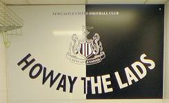 Howay The Lads Players Tunnel Sign