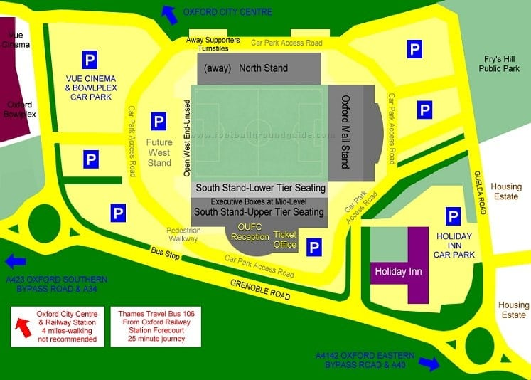 Ground Layout of Oxford United