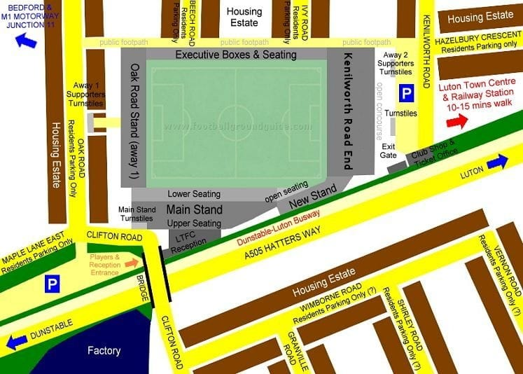 Ground Layout of Luton Town