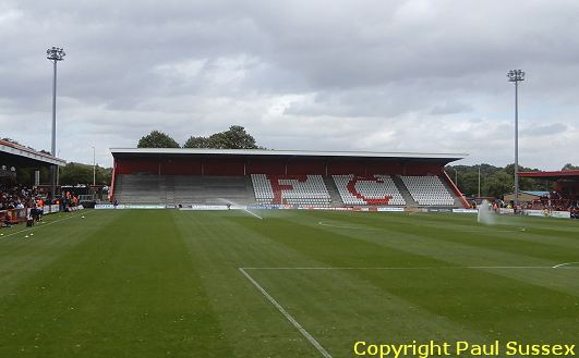 New North Stand With Some Seats Fitted At Stevenage