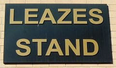 Leazes Stand Sign