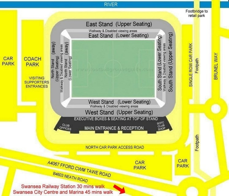 Ground Layout of Swansea City