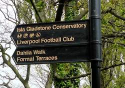 Liverpool Football Club Direction Sign