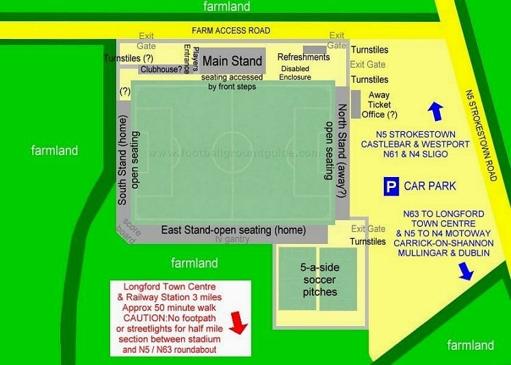 Ground Layout of Longford Town