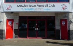 Crawley Town FC main stadium entrance
