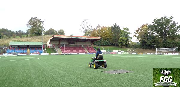 Maintaining the artificial pitch at Newtown AFC