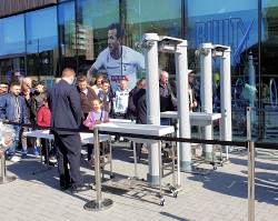 Metal Detectors Outside Club Shop