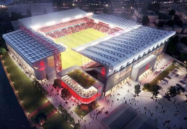 The City Ground with new Peter Taylor Stand