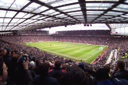 View From The Away Section At Old Trafford