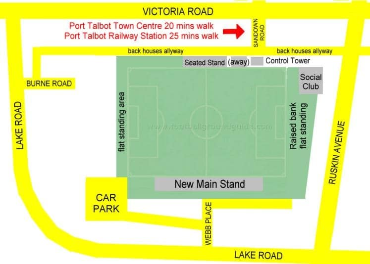 Ground Layout of Port Talbot Town