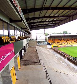 Unfinished area at Vale Park
