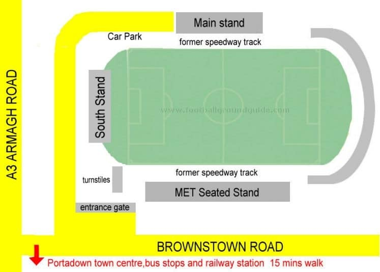 Ground Layout of Portadown