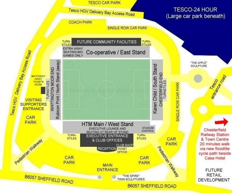 Ground Layout of Chesterfield
