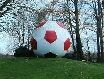 Giant Football On Roundabout