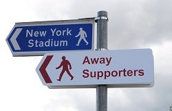 Away Supporters Sign