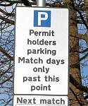 Salford City Parking Permit Holders Sign