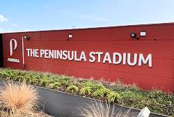 Peninsula Stadium Sign