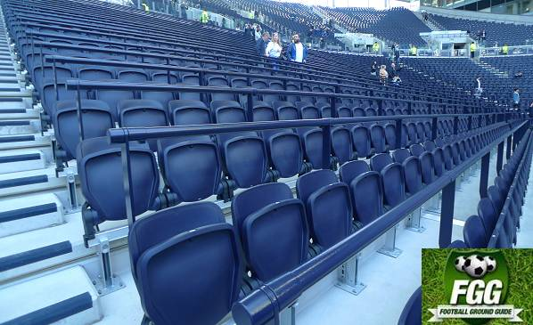 Seating With Safety Barriers At Tottenham