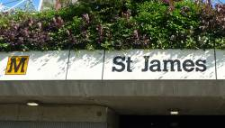 St James Metro Station Sign