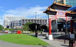 St James Park and Chinatown Gate