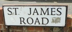 St James Road Sign
