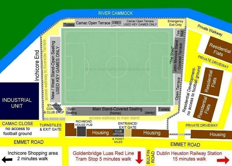 Ground Layout of St Patrick's Athletic