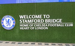 Stamford Bridge Welcome Sign