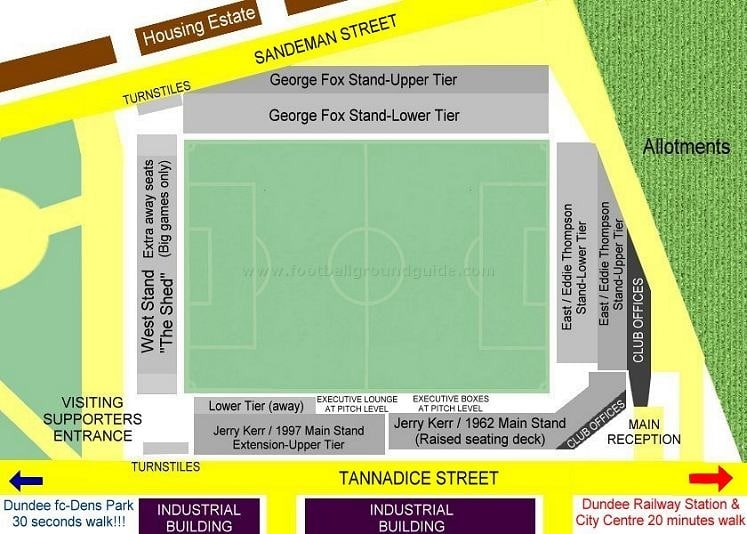 Ground Layout of Dundee United