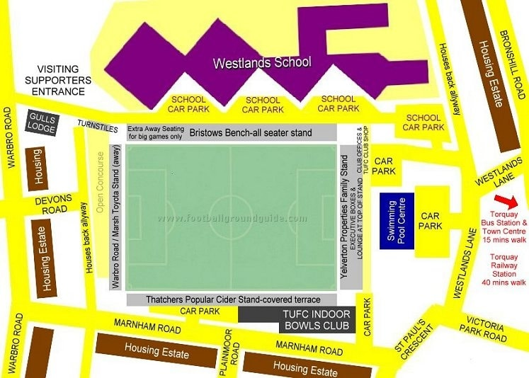 Ground Layout of Torquay United