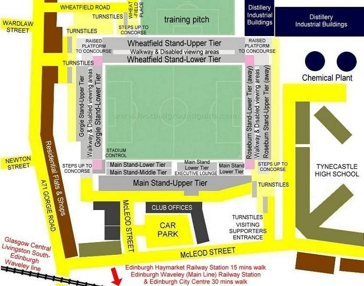 Ground Layout of Heart of Midlothian