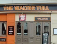 The Walter Tull Flaming Grill Pub Sign Northampton
