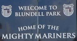 Welcome to Blundell Park Sign