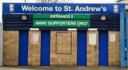 Welcome To St Andrews Away Fans Entrance