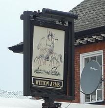 Witton Arms Pub Sign