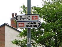 Witton Station Sign